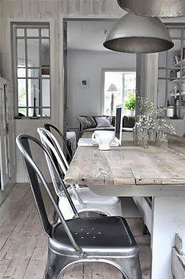 Wood grey white