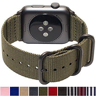 5c0f90e2029 Amazon.com  Apple Watch Band 42mm NYLON NATO iWatch Band- OLIVE GREEN  Durable