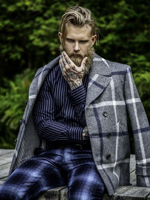 JOY MODELS - JOSH MARIO JOHN... that large plaid coat is fantastic!