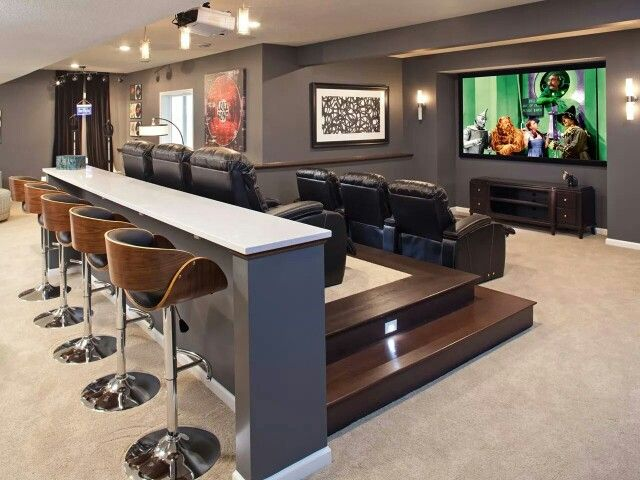 Basement Movie Theater Home Theater Rooms Home Home Theater