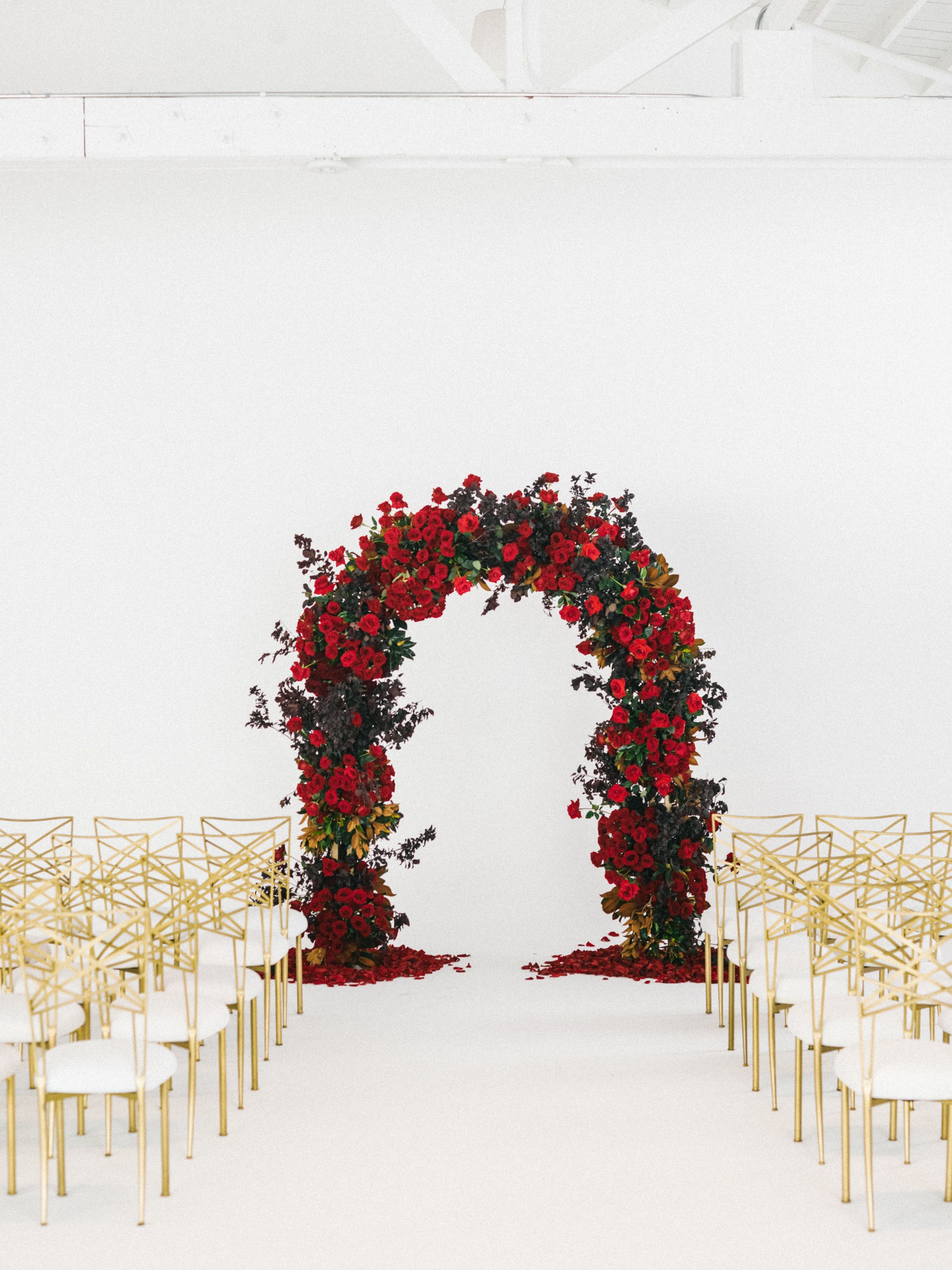 Luxurious Red And Gold Wedding | Pinterest | Arch, Ceremony arch and ...