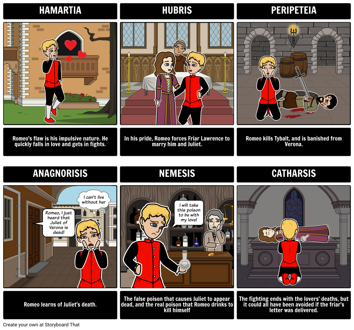 The Tragedy Of Romeo And Juliet Tragic Hero Use Thi Storyboard Other Shakespeare Lesson Plan Act 2 Prologue Meaning