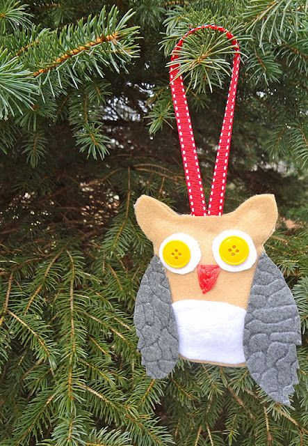 Owl Ornament  Dani could make these ones by herself