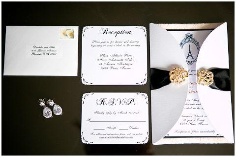 Elegant Parisian Wedding Invitations Google Search Parisian