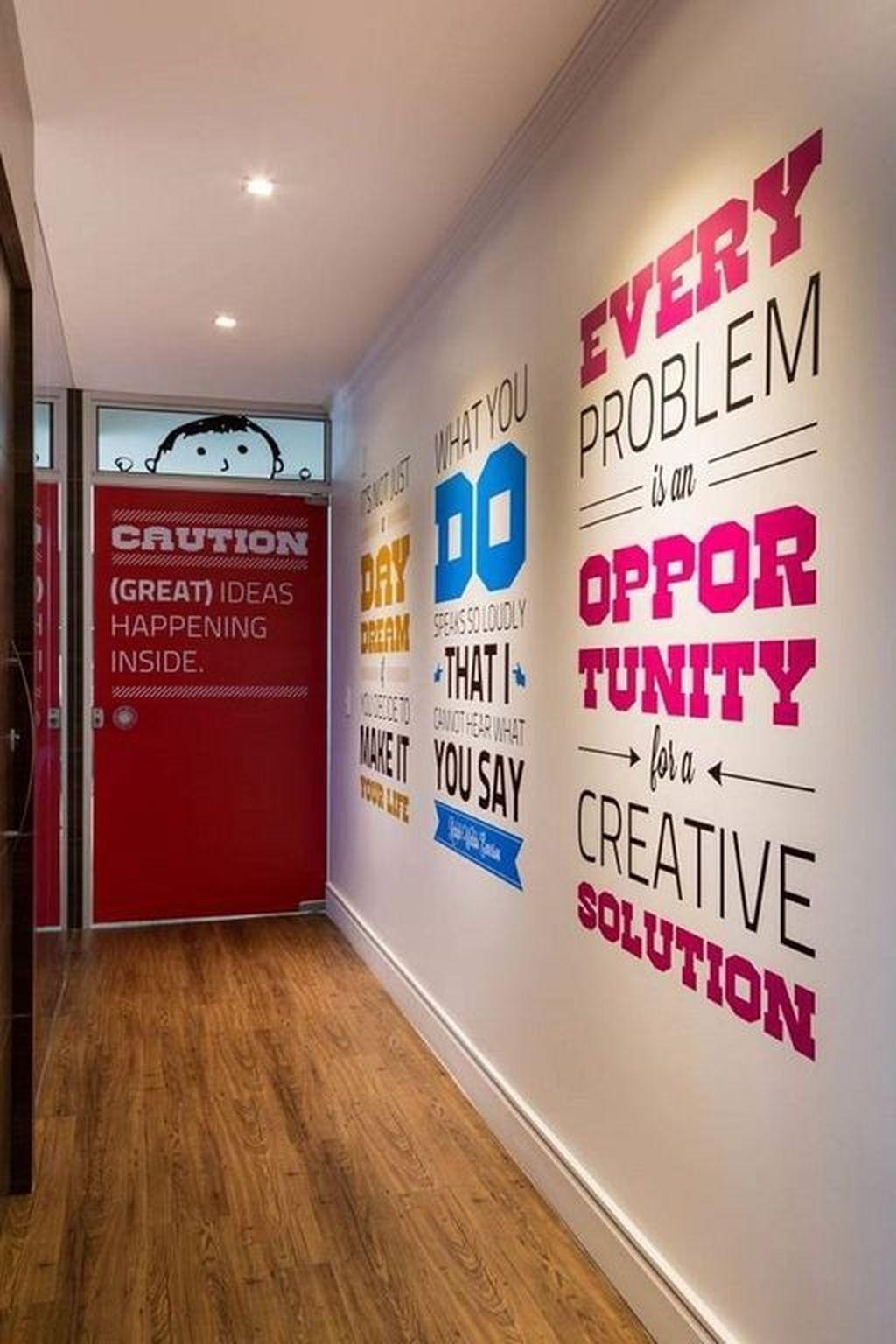 40 Spectacular Office Wall Decor Ideas Office Wall Decor