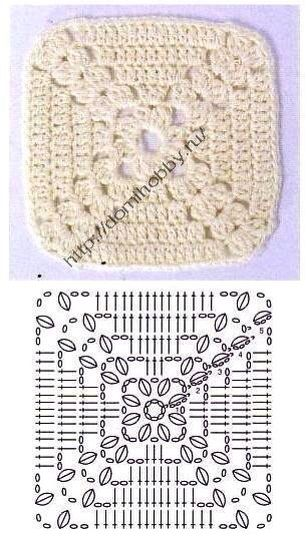 GRANNY SQUARE - with DIAGRAM | STITCHES = ALL STITCHED UP IN EVERY ...