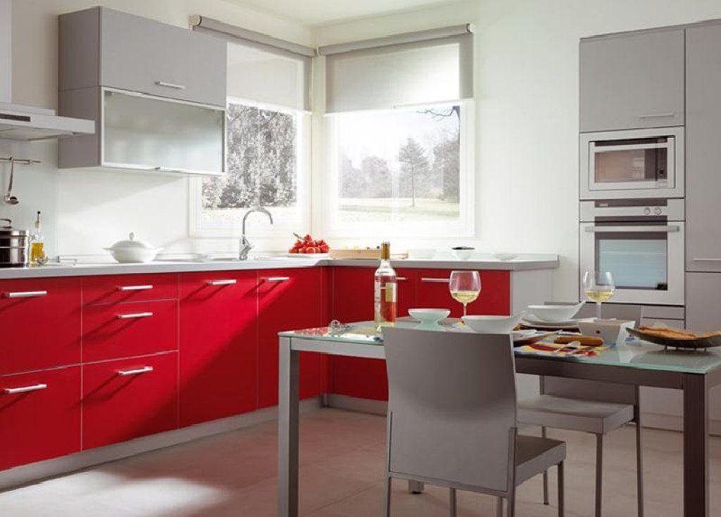 Roja y gris | Cocinas | Pinterest | Gris, Rojo y Cocina roja