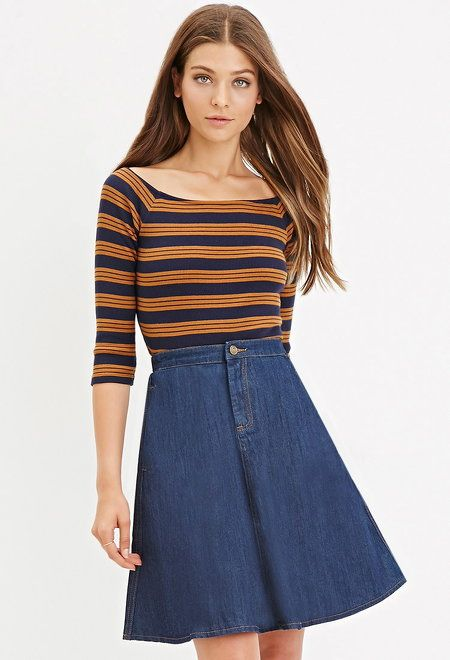 Denim A-Line Skirt