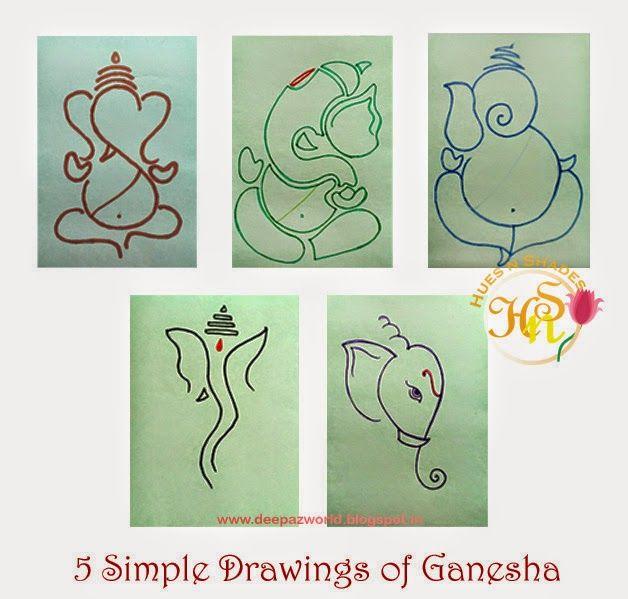 Hues N Shades 5 Simple Drawings Of Ganesha For Ganesh Chaturthi