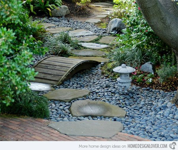 15 whimsical wooden garden bridges - Japanese Wooden Garden Bridge