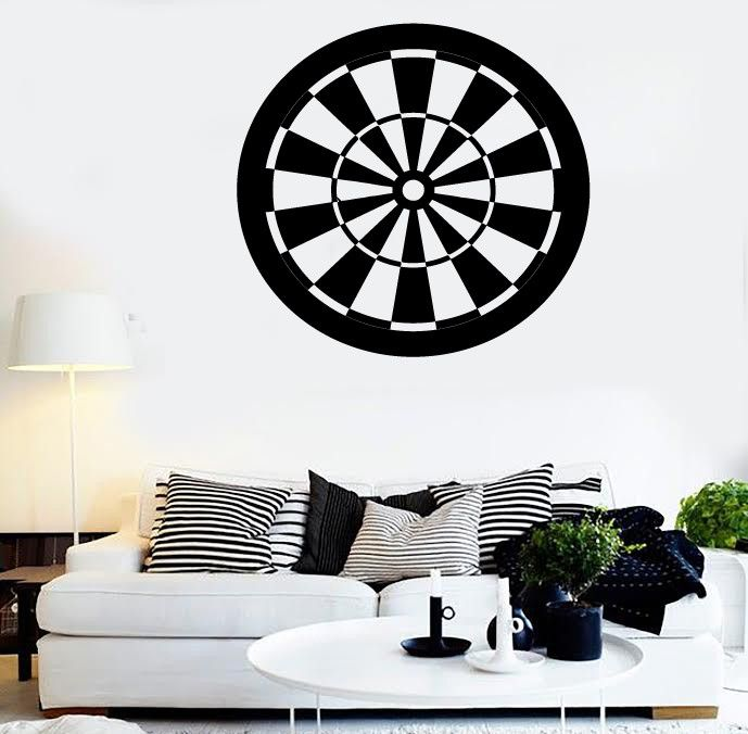 Wall Stickers Vinyl Decal Target Darts Sport Excellent Home Decor - Vinyl wall decals at target