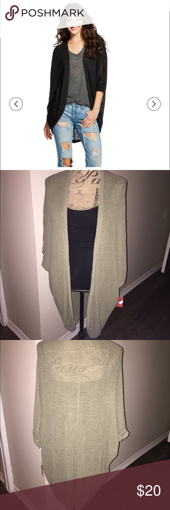 Oversized open cardigan Short sleeve oversized open cardigan. Perfect to dress up or down. Can be worn to the office on causal Friday, or for night out with the girls. Mossimo Supply Co Sweaters Cardigans