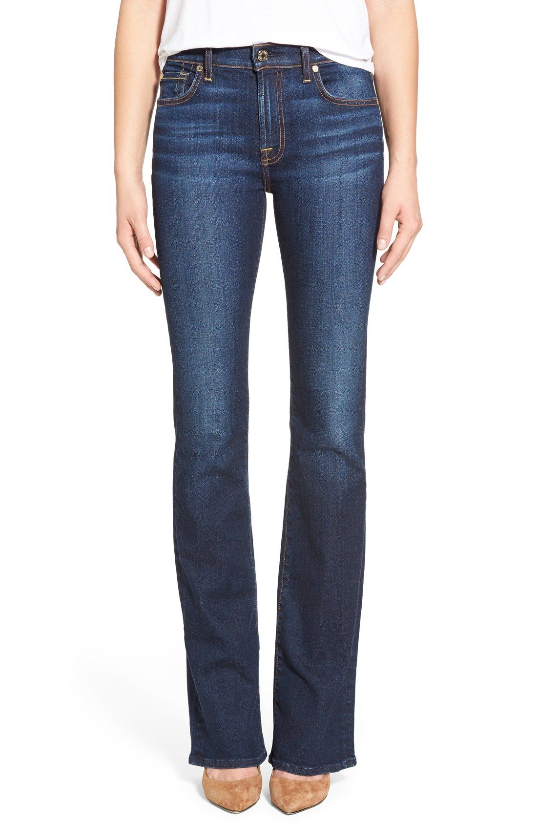 7 For All Mankind® 'Tailorless' Bootcut Jeans (New York Dark) (