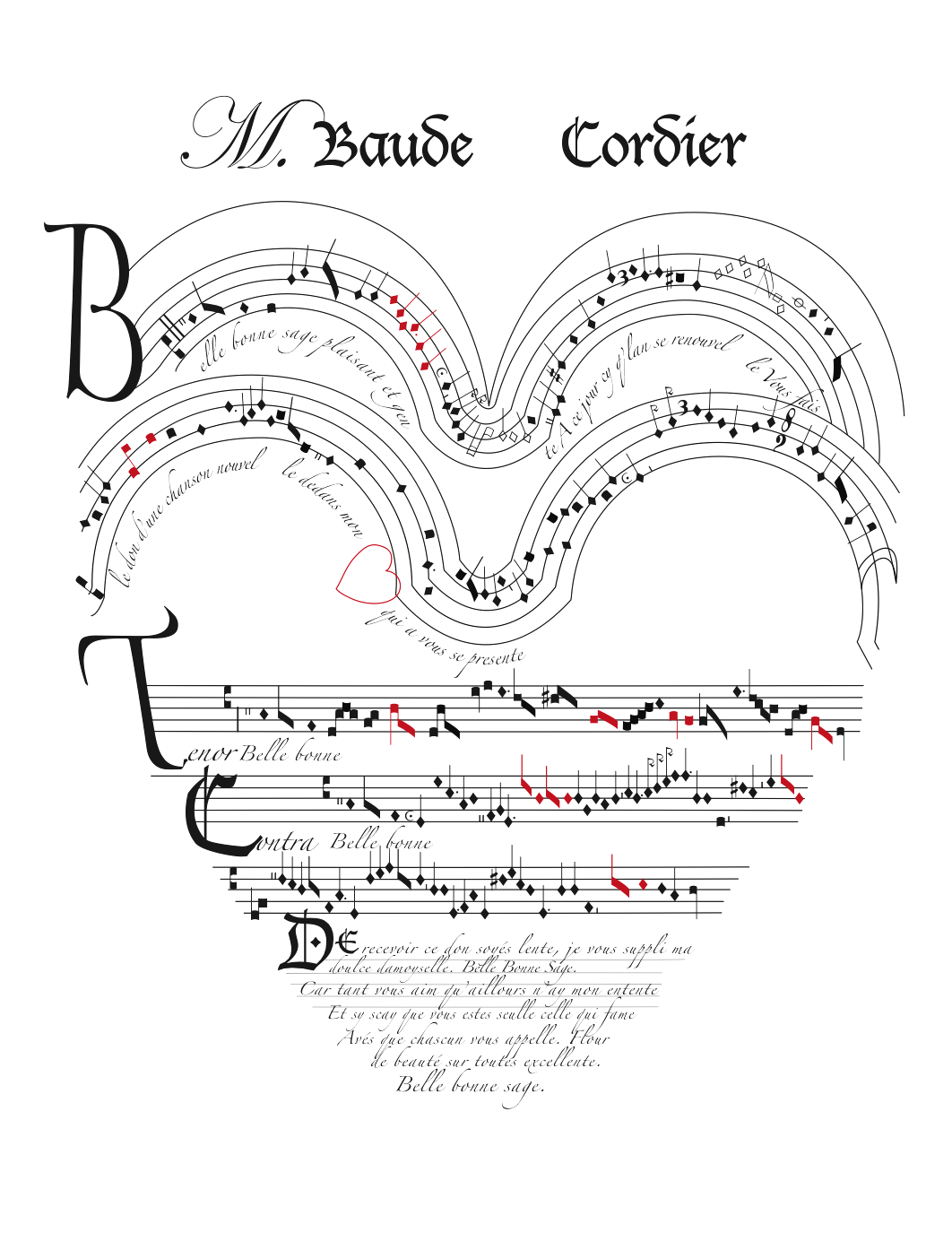 This is a copy of Baude Cordier's famous