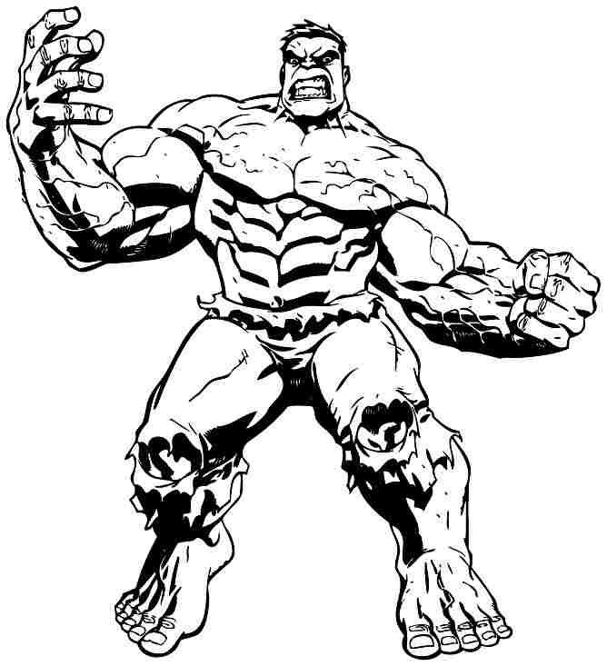 Superhero Hulk Colouring Sheets Free For Boys & Girls ...