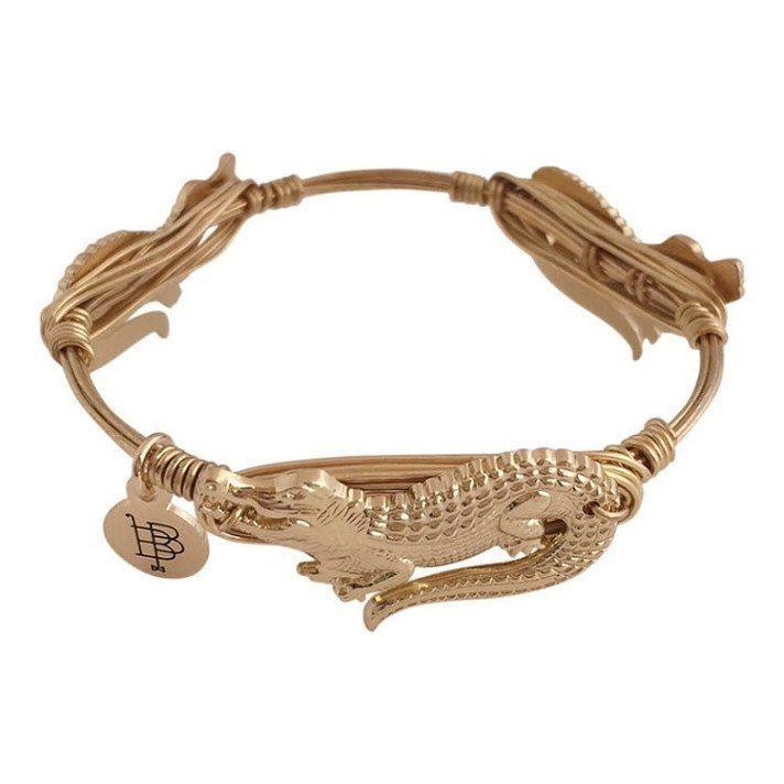 Bourbon And Boweties Gold Gator Bracelet Dixieland Monogram