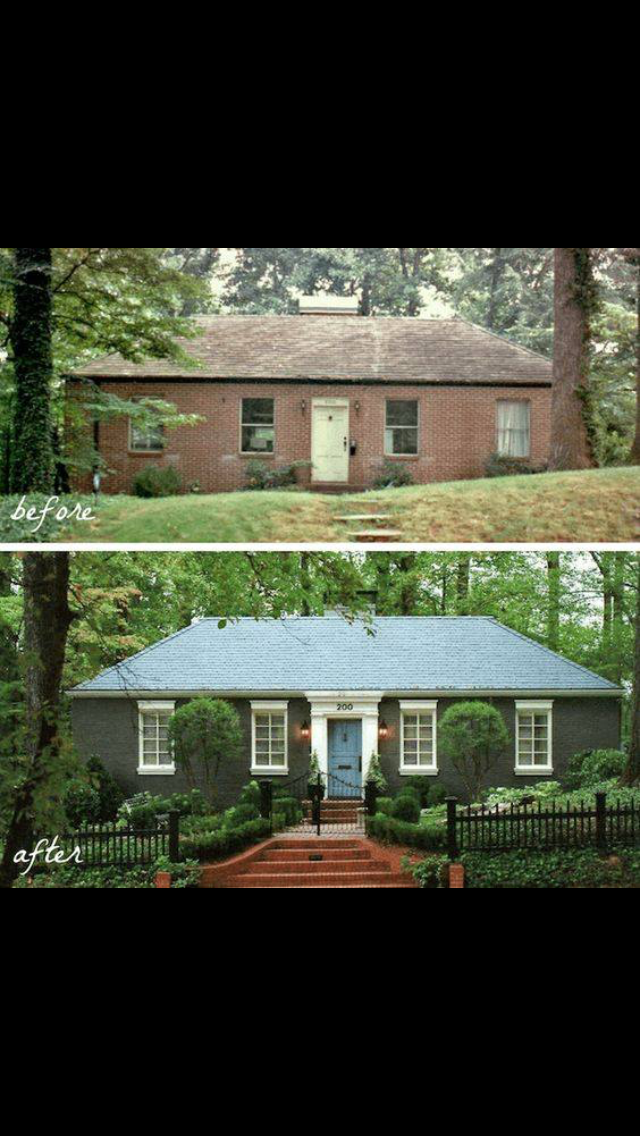 Atlanta Renovations Before After Photos With Images: Home Exterior Makeover, House Makeovers, House Exterior