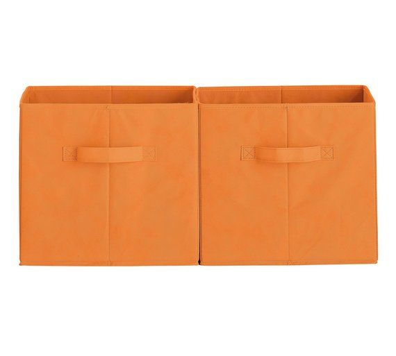 Buy HOME Phoenix Canvas Box   Orange At Argos.co.uk   Your Online