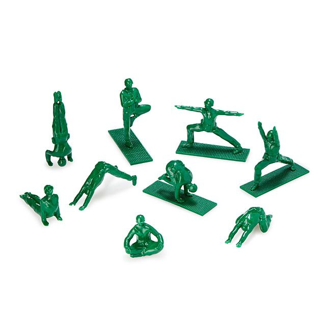 Yoga Joes - Little green Army yoga dudes for the spiritual warrior in all of us @uncommongoo
