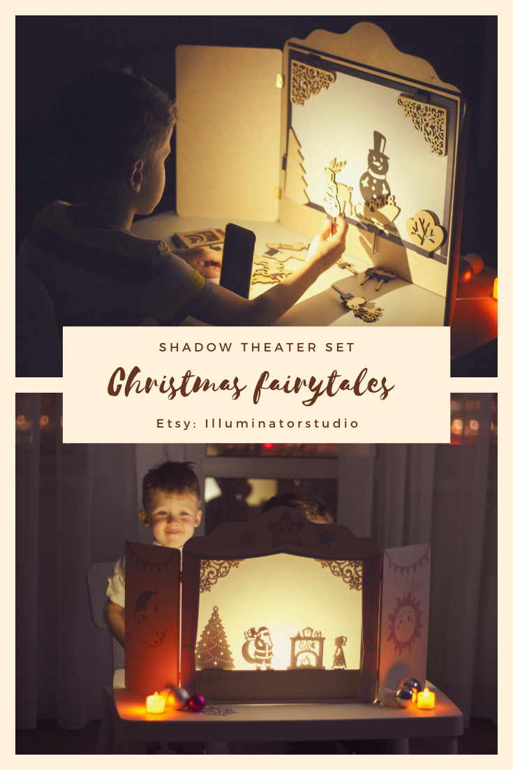 Christmas gift shadow theater, Christmas fairy tales