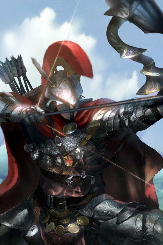A kingdom archer, paaz Kim on ArtStation at https://www.artstation.com/artwork/a-kingdom-archer-35a5ce2f-6df2-4301-aa0c-4d858755d0c5