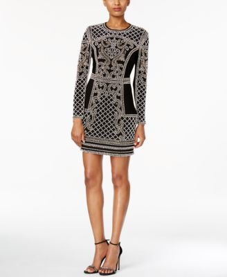 ad5d224f Xscape Embellished Long-Sleeve Bodycon Dress | macys.com | because I ...