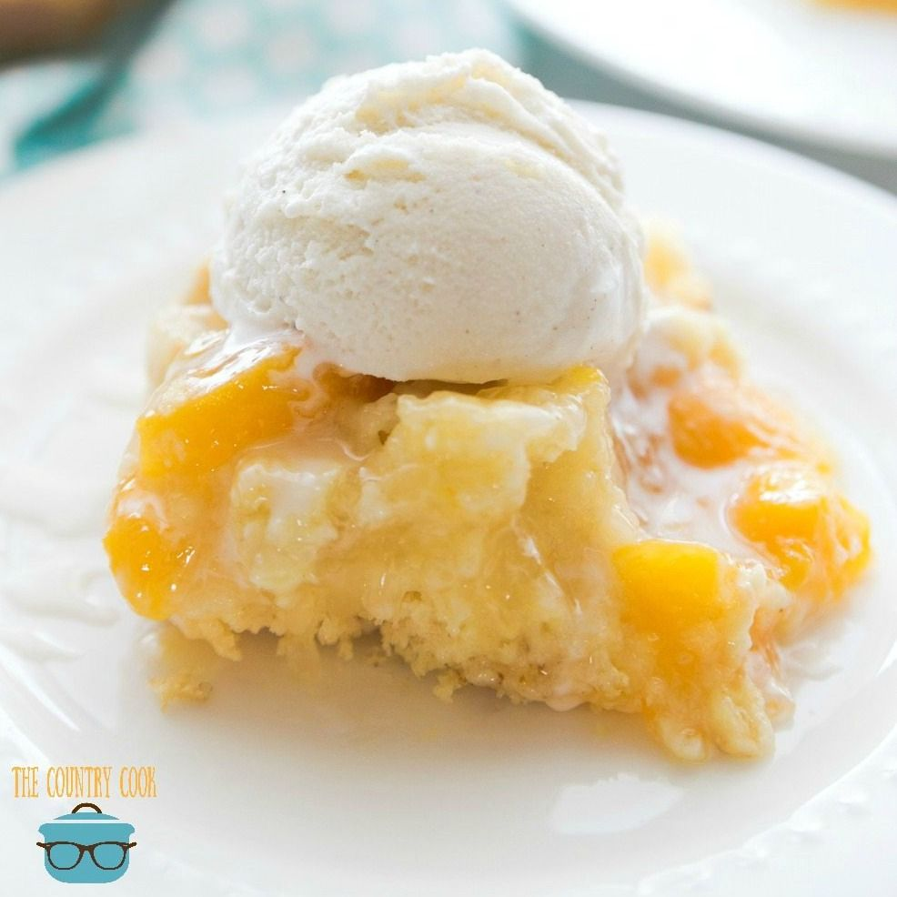 Peach cobbler cake #peachcobblerpoundcake