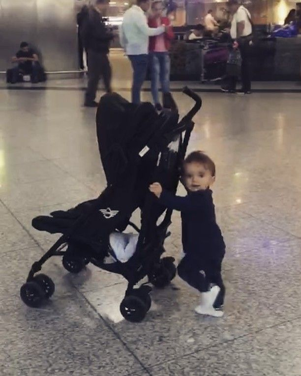🎥Oct 2-2016. 🏁@yolanthecabau _My little world traveler is getting big! 😍 #XessXava He makes every second count double 🙏 #mommysboyforlife #ProudMomma #LoveHimLikecrazy ❤️_✪ Public Figure *.♥ [ GIF 🎥 view the source. ]
