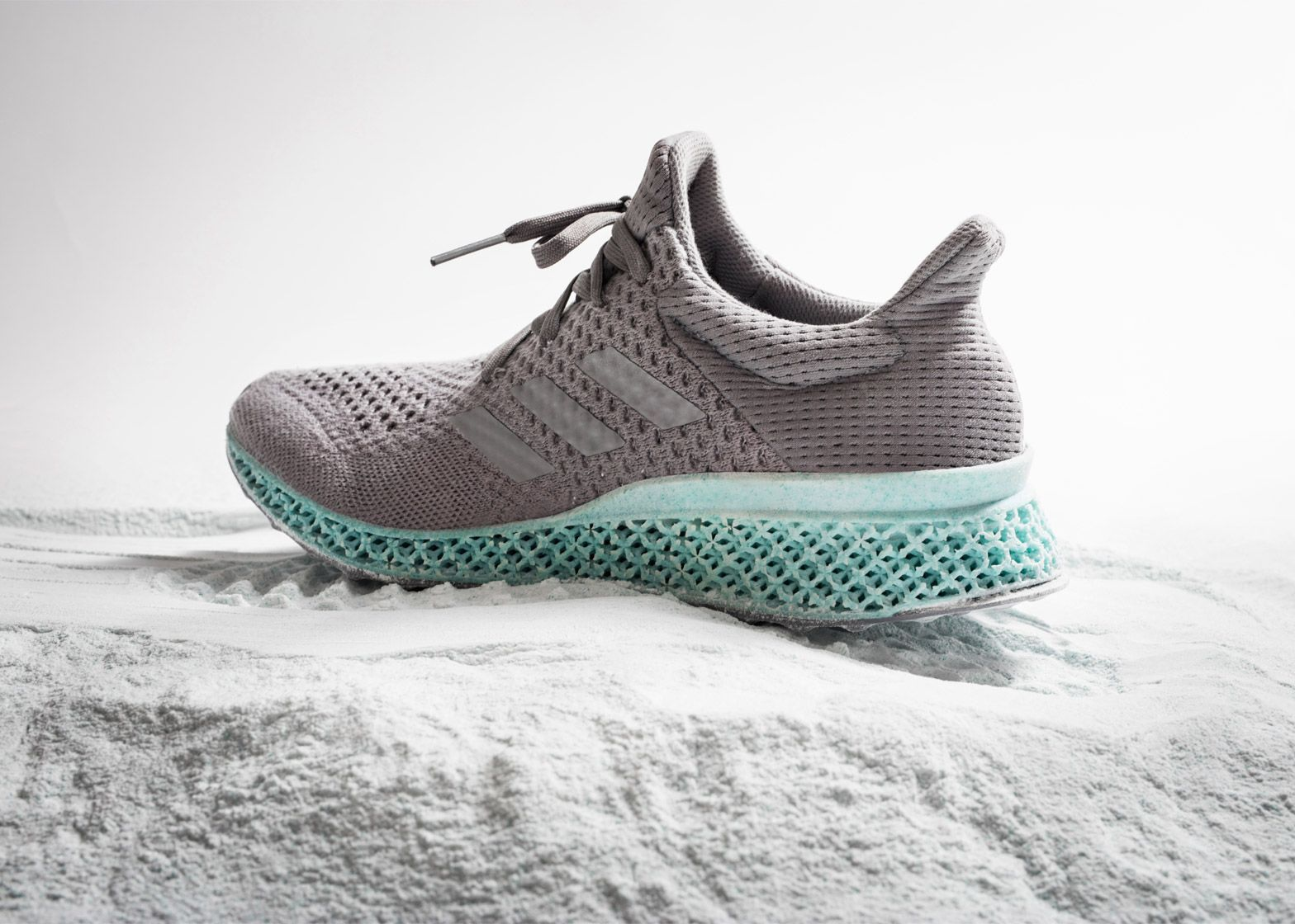 Adidas has created a concept sports shoe with an upper made from ocean  plastic and a