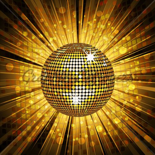 Gold Disco Ball And Mosaic Background Disco Background Disco Ball Disco