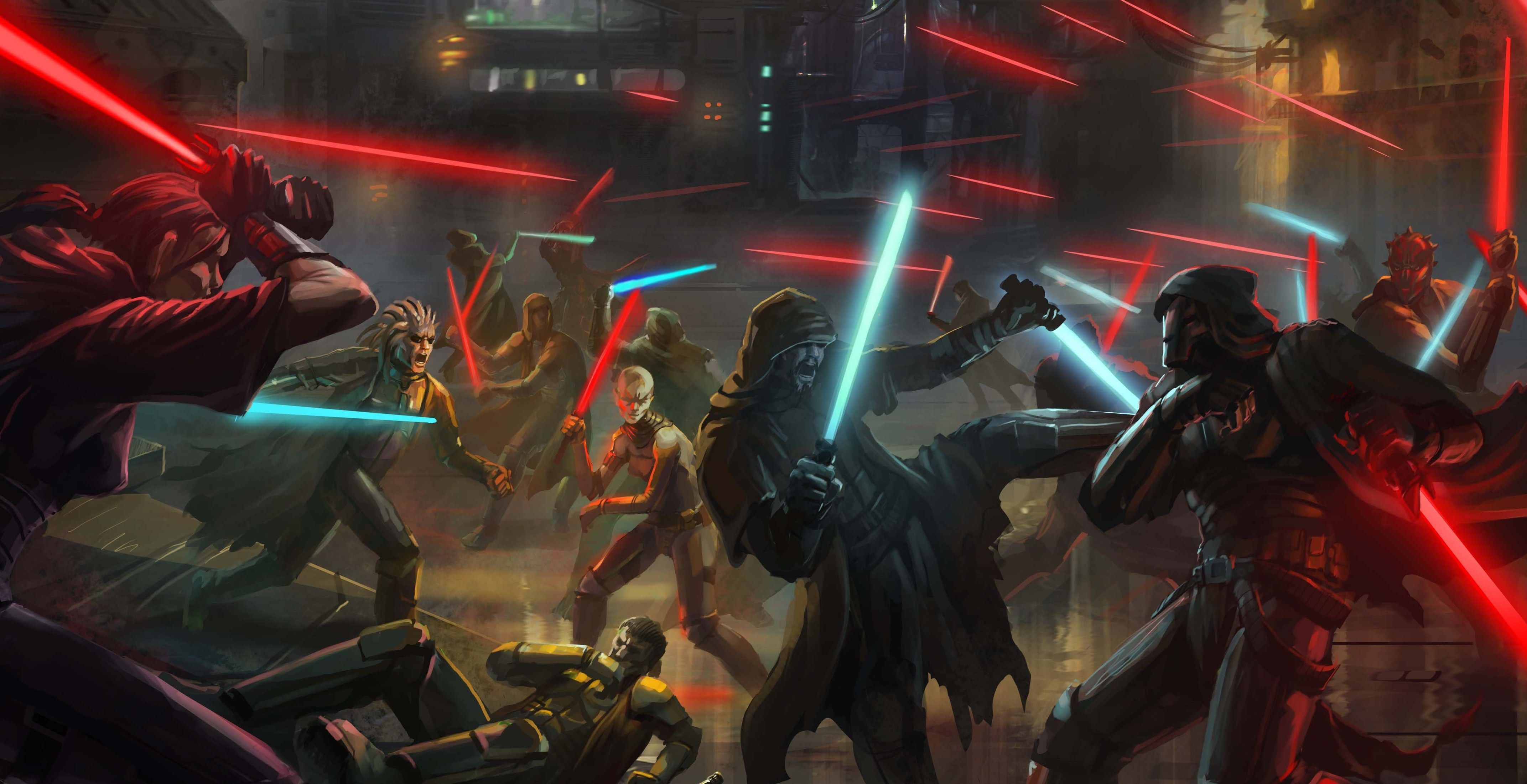 star wars lore, this is artwork from the great galactic war which