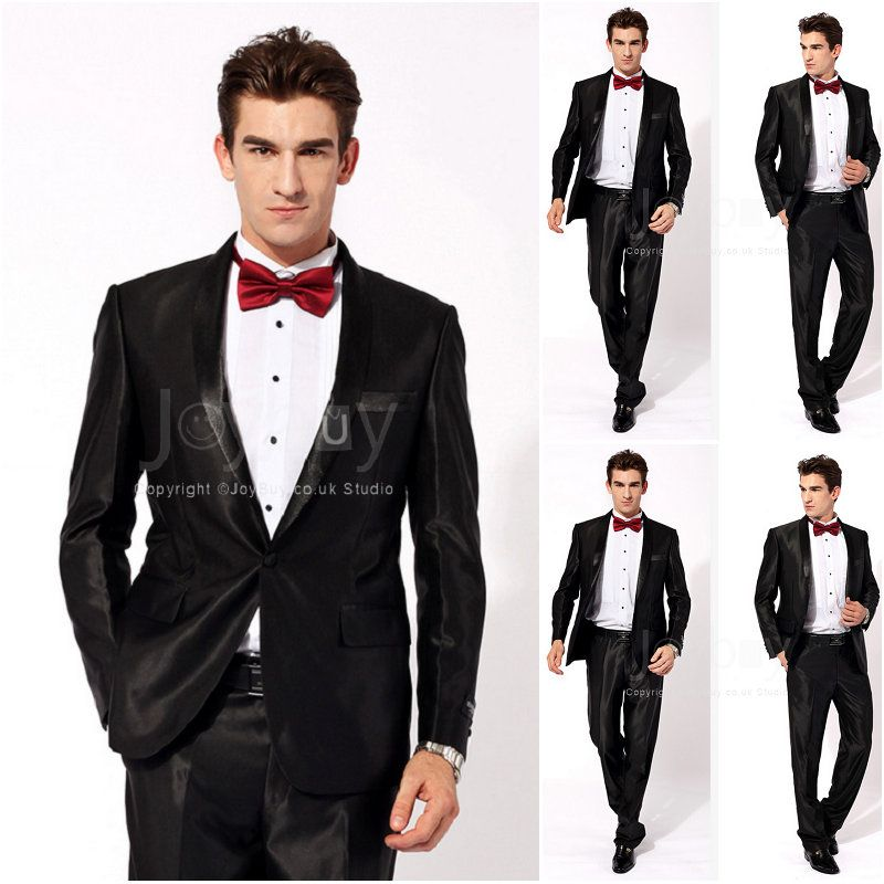 Shawl Lapel One Buttons Black Groom Suits for Wedding | CHESTI DE ...