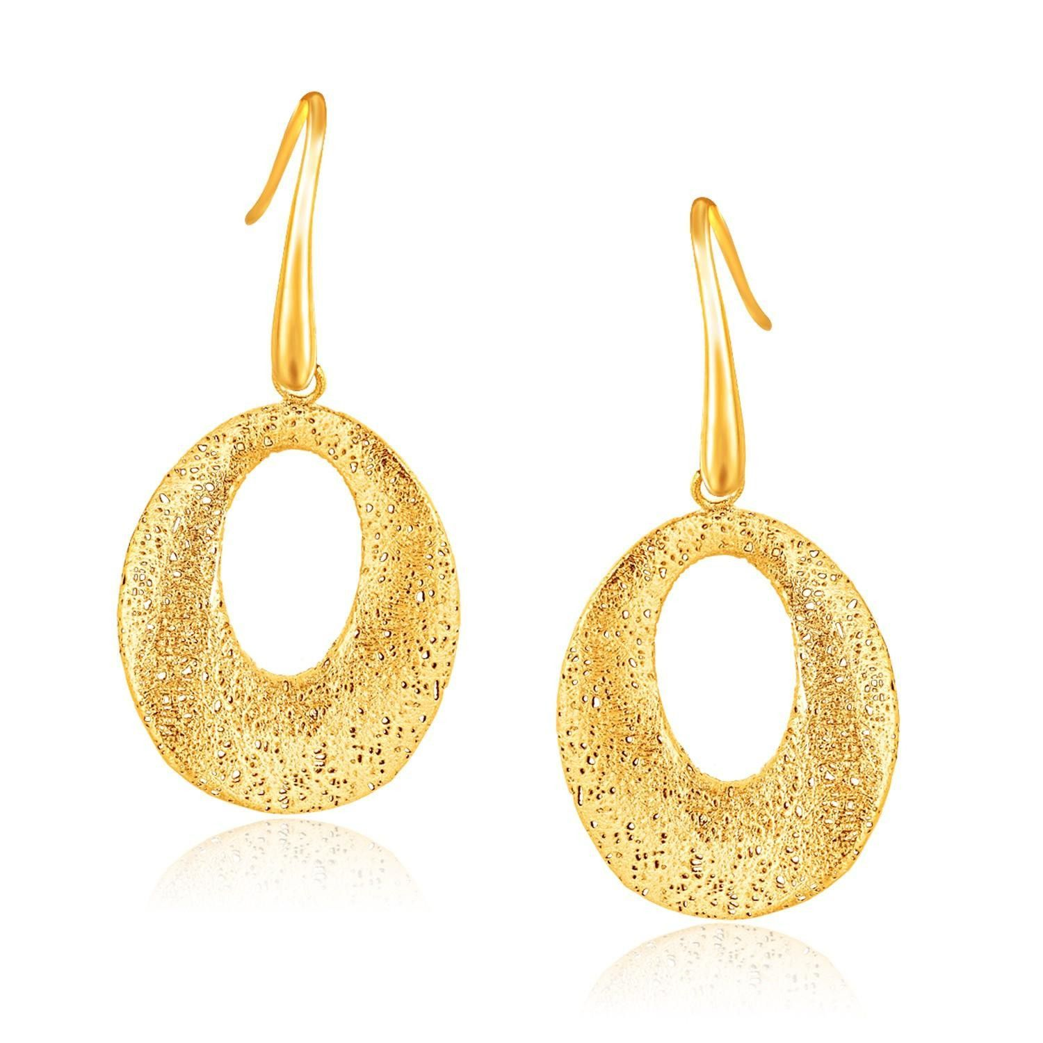 ball jewelry gold earrings dp yellow italian com dangle amazon
