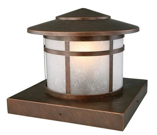 Round column 1 light 95 brushed copper outdoor post light at round column 1 light 95 brushed copper outdoor post light at menards aloadofball Image collections