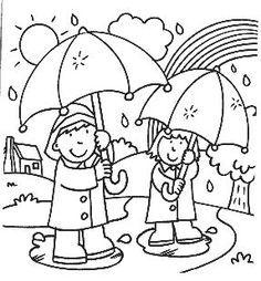 knutselen herfst regen knutselen het weer knutselen