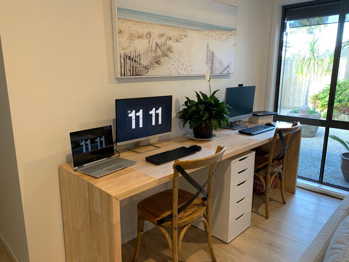 Two person desk - coastal / hamptons / beach style