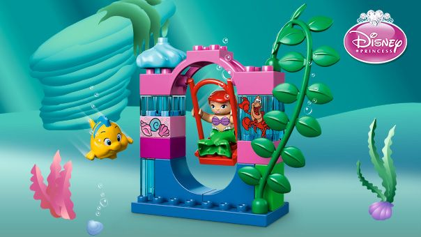 LEGO® DUPLO® - Ariel's Undersea Castle  Swing, slide and search for treasure with Disney Princess Ariel, Flounder and Sebastian at their underwater playground!
