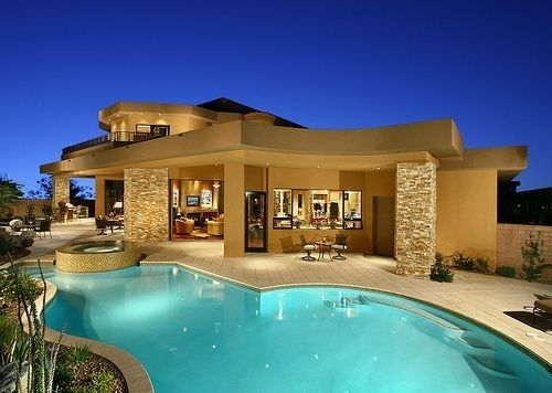 7 Contemporary Design With Large Pool 59 Gorgeous Dream Houses For Motivation And Inspiration Lifestyle Fancy Houses Big Modern Houses Pool Houses
