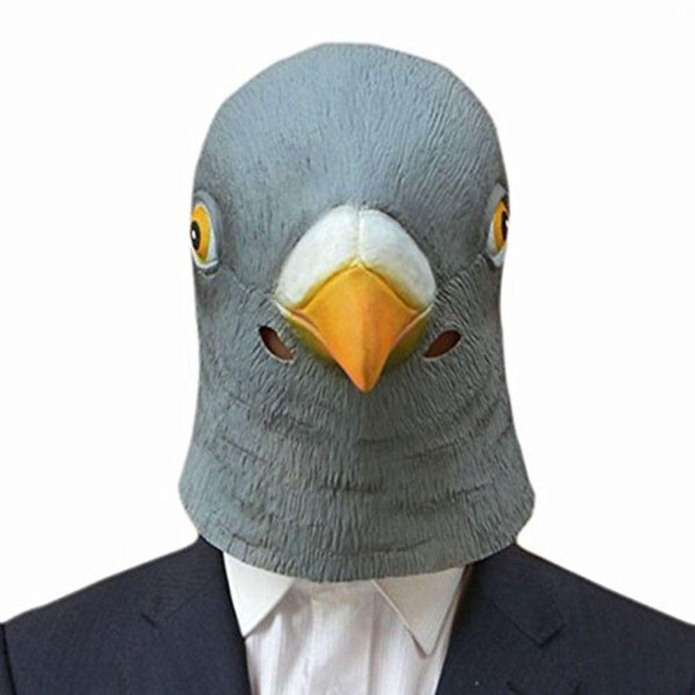 Pigeon Mask Latex Giant Bird Head Halloween Cosplay Costume ...