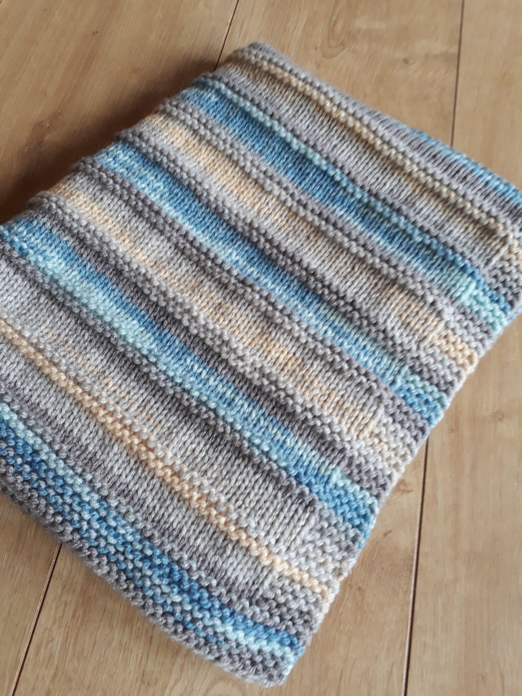 Crib Blanket  hand knit