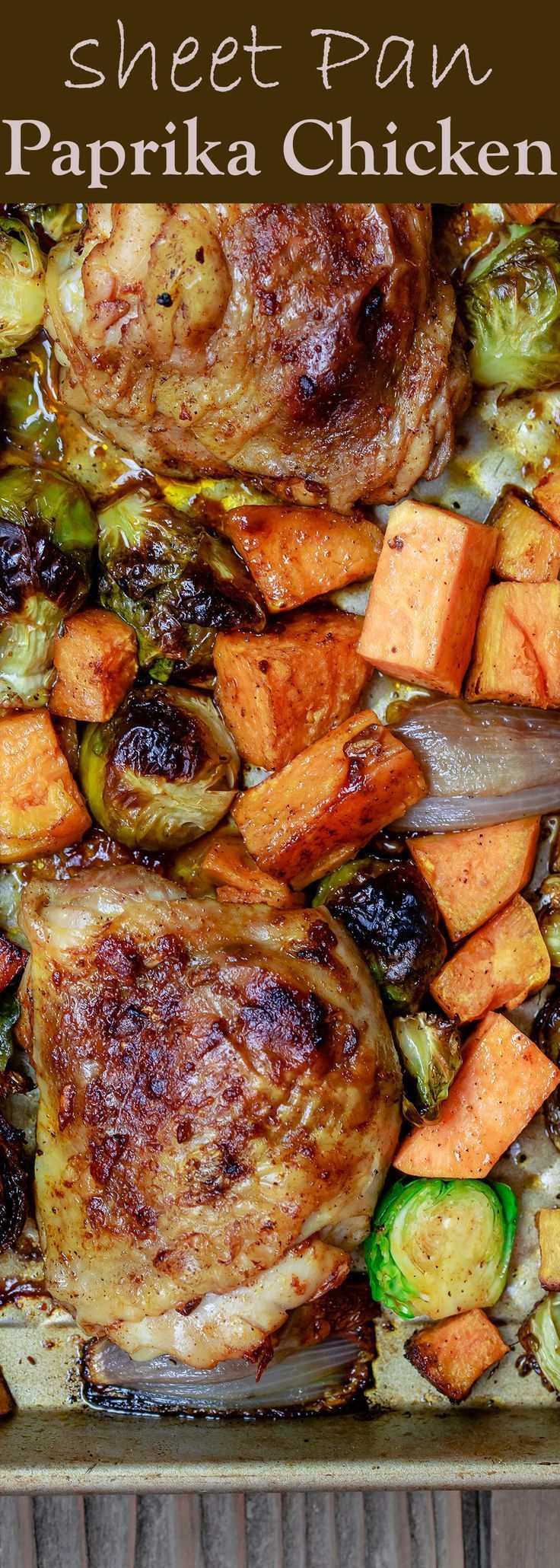 Sheet Pan Paprika Chicken and Vegetables