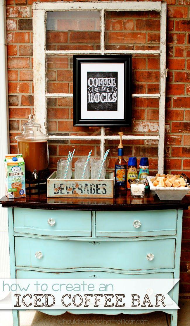 Setting up an Iced Coffee Bar Coffee bar home, Home