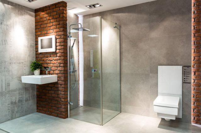 Servitor Galeria łazienka Z Wykorzystaniem Cegły I