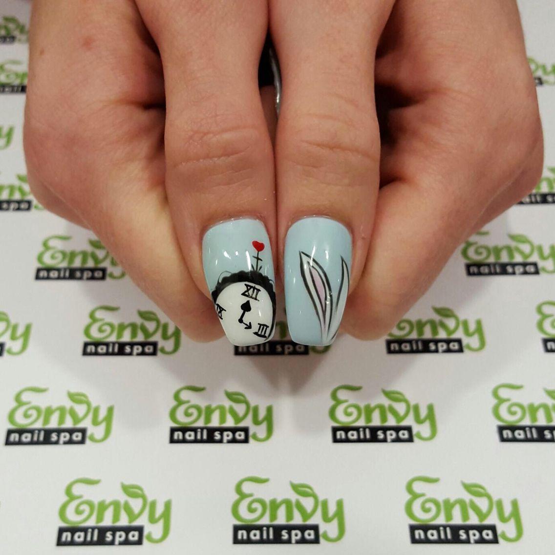 Disney Alice In Wonderland Nails - Envy Nail Spa | Cartoon ...