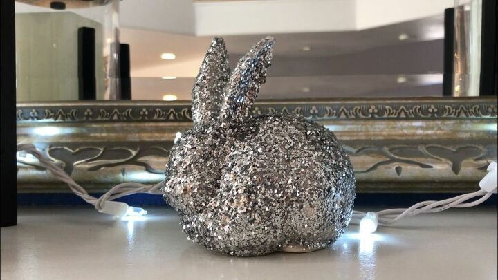 Thrift Store Glitter Bunny Upcycle #thriftstorefinds