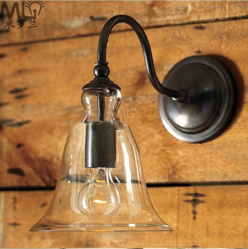 Free shipping LED Crystal bells American country vintage industrial