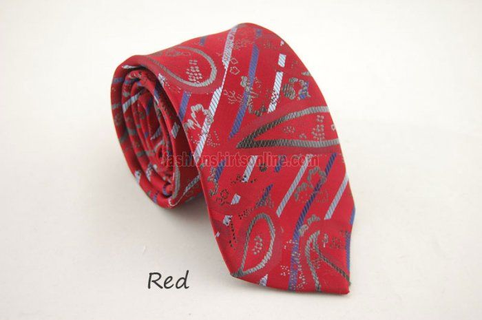 Men's Pattern HandMade Neckties Red RT809P