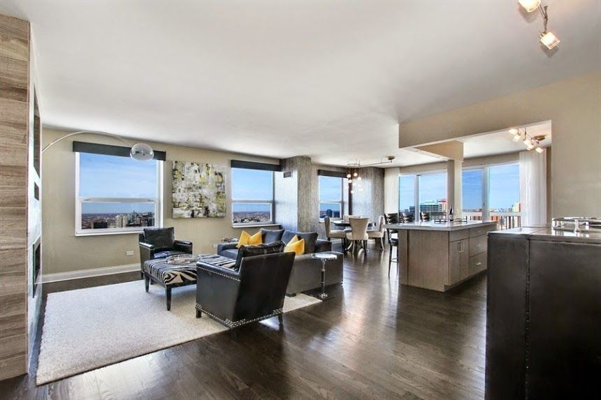 545 N Dearborn St Unit 3201 Chicago Illinois For Rent Stunning Furnished Corner Unit Penthouse For More Properties Fo Home Corner Unit Property For Sale