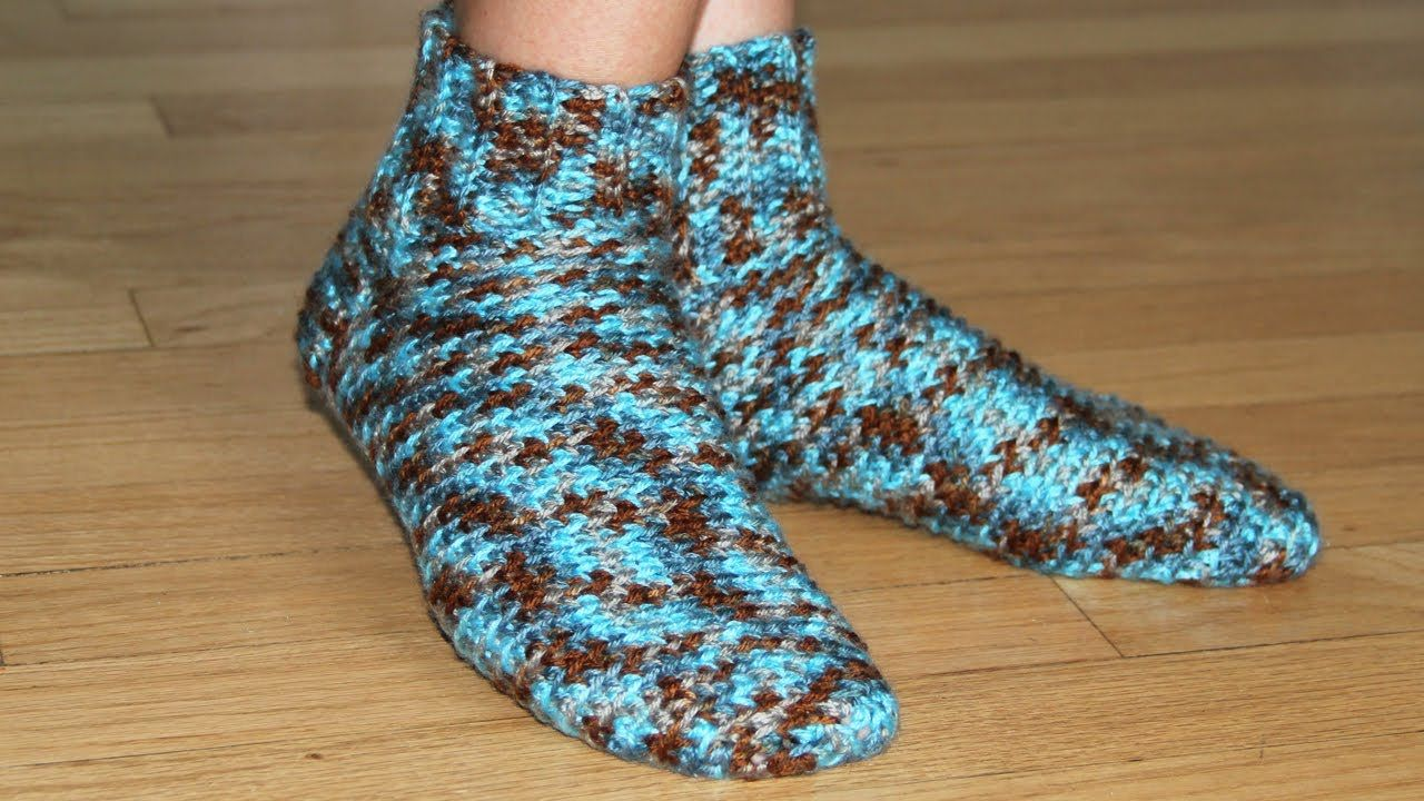 How to crochet socks - video tutorial for beginners have to decide ...