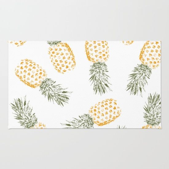 Pineapple Rug By Rui Faria Pineapple Room Pineapple Decor Pineapple Kitchen